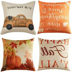 Anickal Fall Pillow Covers 18x18 Inch for Fall Decor Set of