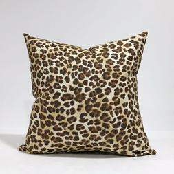 Animal Print Throw Pillow Cover Brown & Black Leopard Pillow