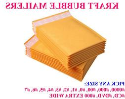 ANY SIZE KRAFT BUBBLE MAILERS PADDED BAGS SHIPPING MAILING S