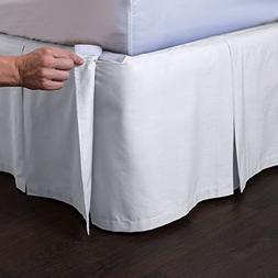 Ashton Detachable Bedskirt  - Easy on / Easy off Pleated Bed