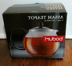 Bodum Assam Teapot Tea Infuser Press 4 Cup 34 Ounce Black -