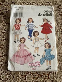 BUTTERICK B6000 Sewing Pattern: 18 Inch Doll Clothes Retro N