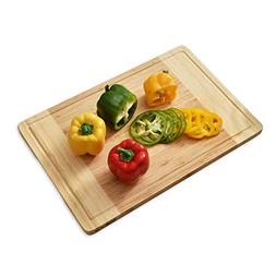 WELLAND Bamboo Cutting Board and Serving Tray with Juice Gro