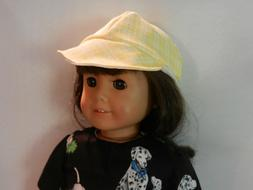 Base Ball Cap fits American Girl and other 18 inch dolls Yel