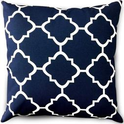 Bedding Decorative Square 18 x 18 Inch Throw Pillow - Navy &
