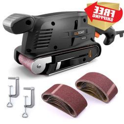 TACKLIFE Belt Sander 3 ×18-Inch with 13Pcs Sanding Belts, B