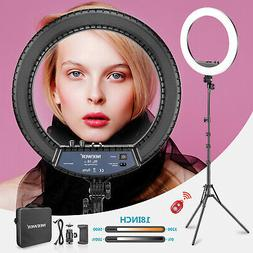 Neewer Bi-color 18-inch Dimmable LED Ring Light with Stand f
