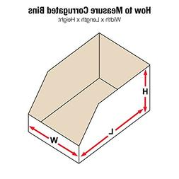 "Aviditi BINBWZ618 Corrugated Open Top Bin Box, 18"" Length x"