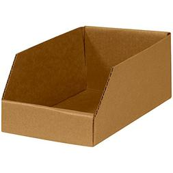 "Aviditi BINMT612K Open Top Bin Boxes, 6"" x 12"" x 4-1/2"", Kra"