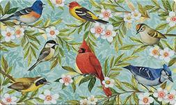 Toland Home Garden Bird Collage 18 x 30 Inch Decorative Floo