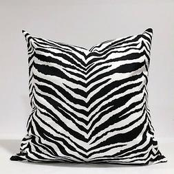Black & white Pillow Cover, Animal Print Pillowcase, Zebra P