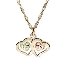 Black Hills Gold heart pendant womens 18 inch necklace BHG 1