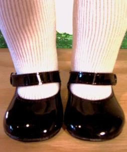 """BLACK PATENT SHOES Fits 18"""" American Girl Doll, 18 Inch Doll"""