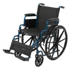 Drive Medical BLS18FBD-SF 18 inch Streak Wheelchair with Fli