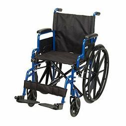 Drive Medical Blue Streak Wheelchair with Flip