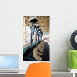Boots Rifles Dog Tags Wall Mural by Wallmonkeys Peel and Sti