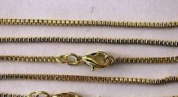 Box Chain Gold Plate 18 Inch 1.5 MM Necklace Wholesale Lot B