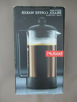 Bodum Brazil French Press Coffee Maker 1548 New 34 Ounce 8 C