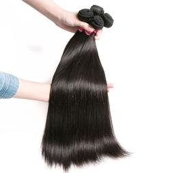 Brazilian Straight Human Remy Hair Extension Weave Black Nat