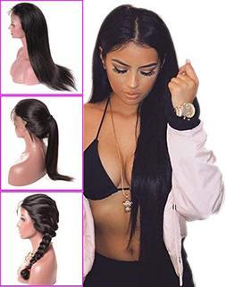 Brazilian Straight Lace Front Wigs 8A Brazilian Remy Human H