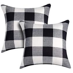ANCIRS 2 Pcs Buffalo Plaid Check Throw Pillow Cover,18 x 18