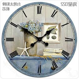 Buggy Round Decorative Wall Clock-Shabby Chic Floral Patchwo