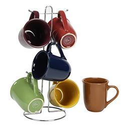 Coffee Cup Set by GIBSON Coffee Mug Set Stoneware Coffee Cup