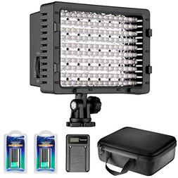 Neewer Camera Camcorder 216 LED Video Light Dimmable LED Pan