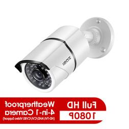 ZOSI 4in1 Home Bullet Surveillance Security Camera 1080p HD