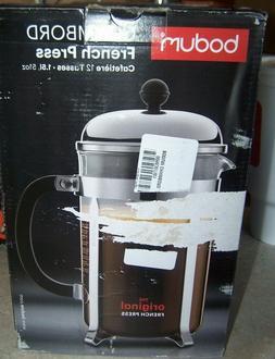 Bodum Chambord French Press Coffee Maker, 51 Ounce, 1.5 Lite
