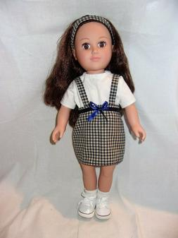 "Checkered Skirt Set for 18"" Inch Dolls"