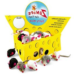 Zanies Pet Edge Cheese Wedge Display Box with 60 Furry Mice