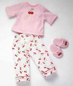 """Cherry Dreams 18"""" Dolls Pj and Slippers Fits American Girl"""