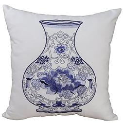 Bridgeso Chinese Style Embroidery Throw Pillow Cover Soft Co