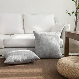 Kevin Textile Summer Linen Burlap Pillowcase Decorative Thro
