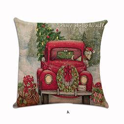 CUCUHAM Christmas Xmas Santa Claus Cushion Cover Pillow Case