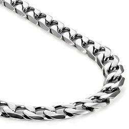 Classic Mens Necklace 316L Stainless Steel Silver Chain Colo