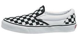 Vans Unisex Classic Slip-On  Blk&whtchckerboard/Wht Skate Sh