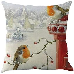 Clearance!Santa Claus Christmas Pillow Cover 18x18 inch Cuek