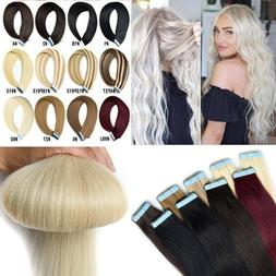 CLEARANCE Tape in 100% Remy Human Hair Extensions Full Head