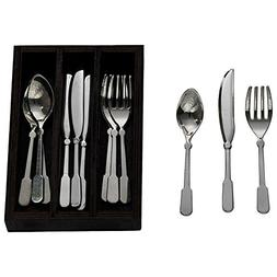The Queen's Treasures 13 Piece Colonial Utensil Set for 18 i