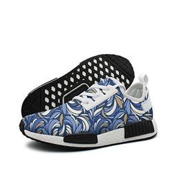 ktyyuwwww Men Colorful Cool Blue Texture With Feathers Custo