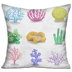 CYANnY Colorful Corals Reef Nature Underwater Fauna 100% Cot