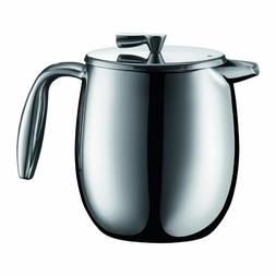 Bodum Columbia Double Wall 4 Cup Stainless Steel French Pres