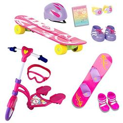 "Beverly Hills Complete 18"" Doll Sports Set, for Skating, Sno"