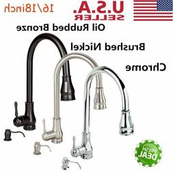 Contemporary Kitchen Sink Faucet Pull-Out Spray Swivel Spout