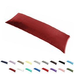 TAOSON 100% Cotton 300 Thread Count Body Pillow Cover Pillow
