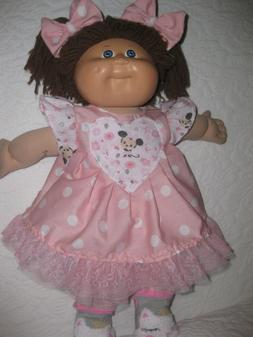 CPK doll clothes/16-18 inch/pink dress/Minnie Mouse/hair bow