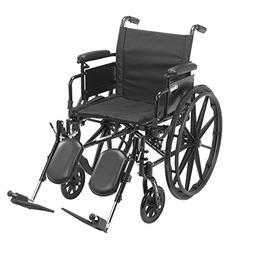 Drive Medical Cruiser X4 Lightweight Dual Axle Wheelchair wi