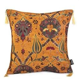 CUSHION COVER COPPER COLOR VINTAGE TAPESTRY BOTH SIDES  THRO